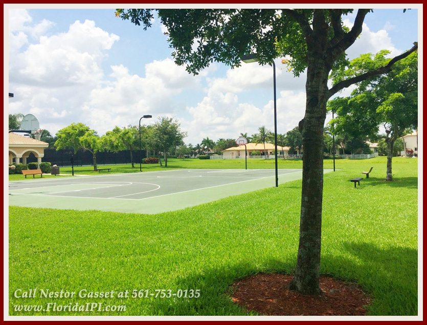 The Isles at Wellington Lakefront Home For Rent - 4122 Bluff Harbor Way Wellington FL 33449 - Community Basketball Court