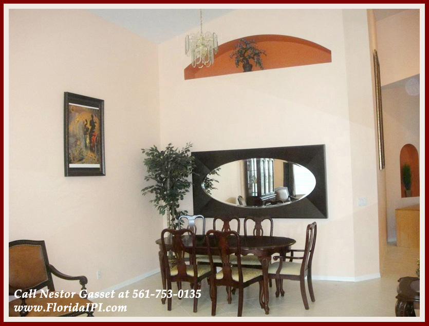 The Isles at Wellington Lakefront Home For Rent - 4122 Bluff Harbor Way Wellington FL 33449 - Dining Area