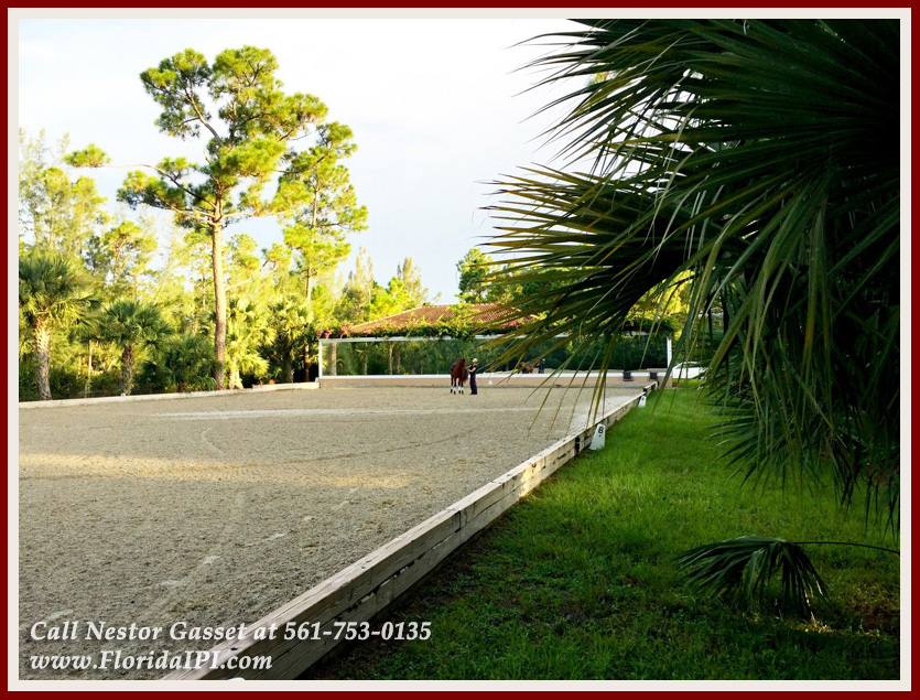 Equestrian Homes For Sale in Fox Trail Loxahatchee FL - 1154 -1092 Clydesdale Drive Loxahatchee FL 33470 - Riding Arena With Mirror
