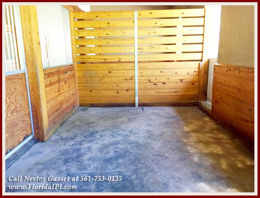 Equestrian Homes For Sale in Fox Trail Loxahatchee FL - 1154 -1092 Clydesdale Drive Loxahatchee FL 33470 - Stalls With Rubber Matting