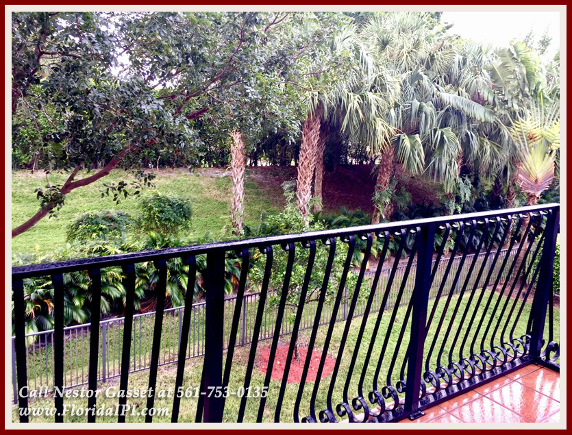 10392 Trianon Pl Wellington FL 33449 - Balcony - Versailles Wellington FL Home For Sale - Florida IPI International Properties and Investments