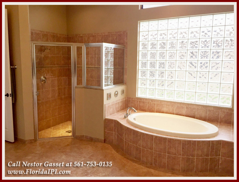 10392 Trianon Pl Wellington FL 33449 - Master Bathroom -Versailles Wellington FL Home For Sale - Florida IPI International Properties and Investments
