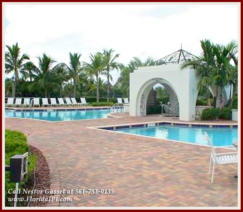 New Homes For Sale in Wellington Olympia FL - Spend your weekends lounging around a resort-style swimming pool when you move into this Olympia Wellington FL home for sale.