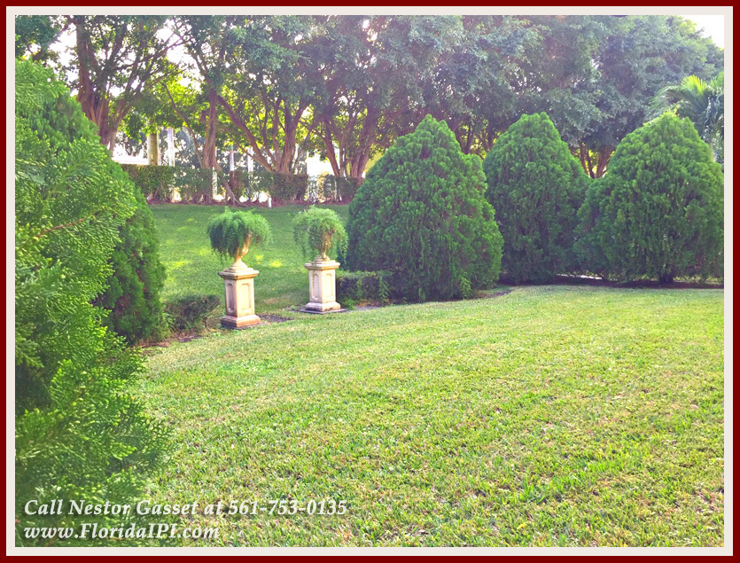 Wellington FL Home For sale in Olympia - The backyard of this home for sale in Olympia in Wellington FL for sale is perfect for hosting fun barbecues and growing a garden!