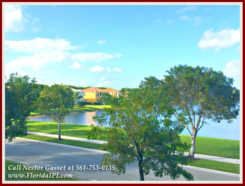 Olympia Wellington FL Home For Sale - A stunning lake view can be seen just across this Wellington FL home for sale in Olympia.