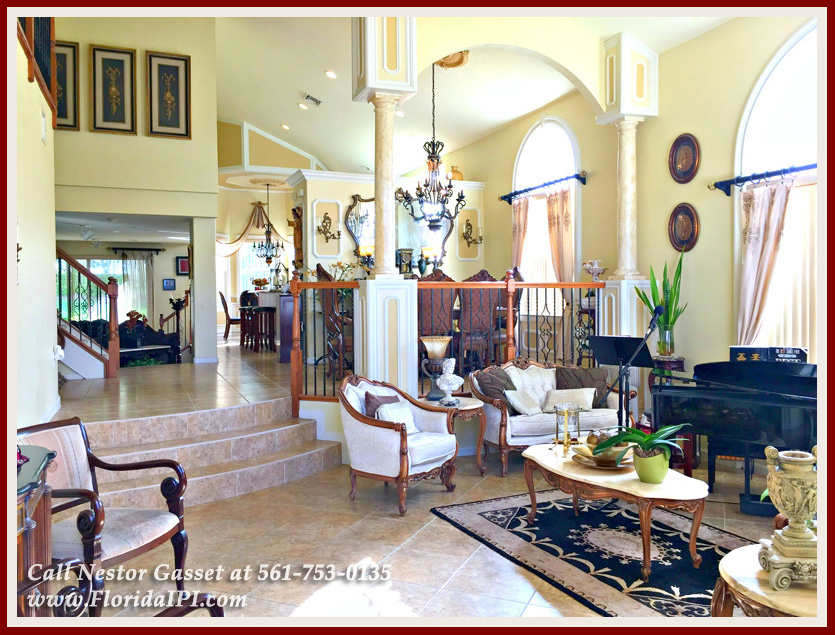 Wellington FL Home For sale in Olympia - Beautiful Mediterranean architectural details can be seen throughout this Olympia Home For Sale in Wellington FL.