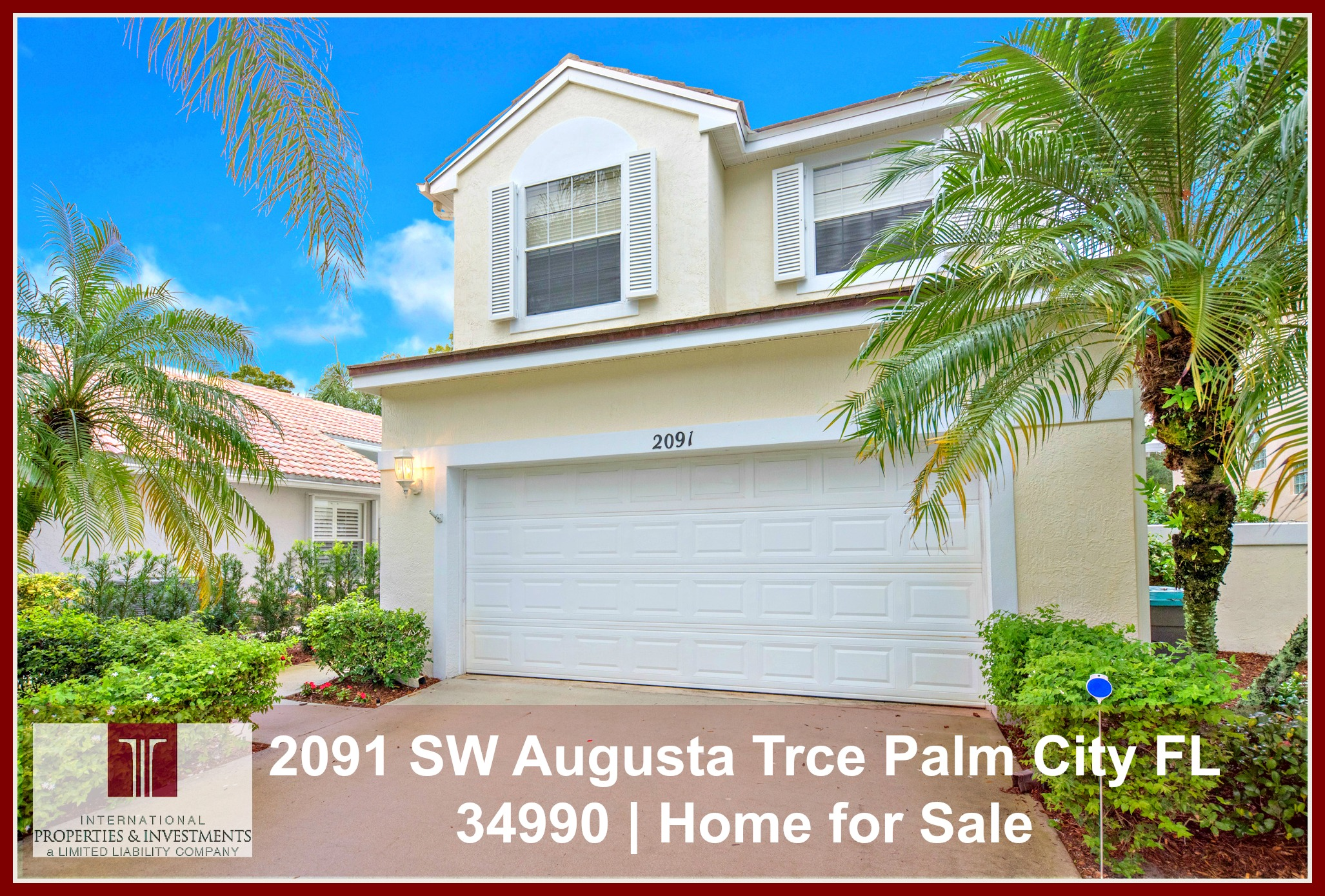 2091 SW Augusta Trce Palm City FL 34990 Home For Sale