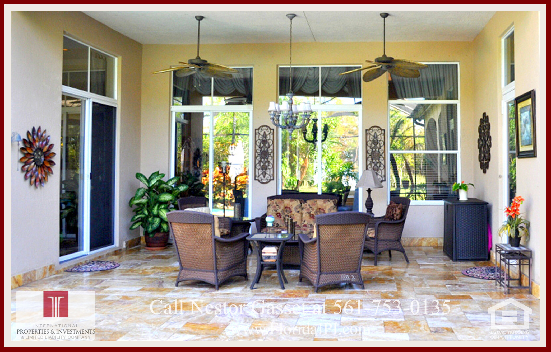 West Palm Beach Fl golf course community estate home for sale
