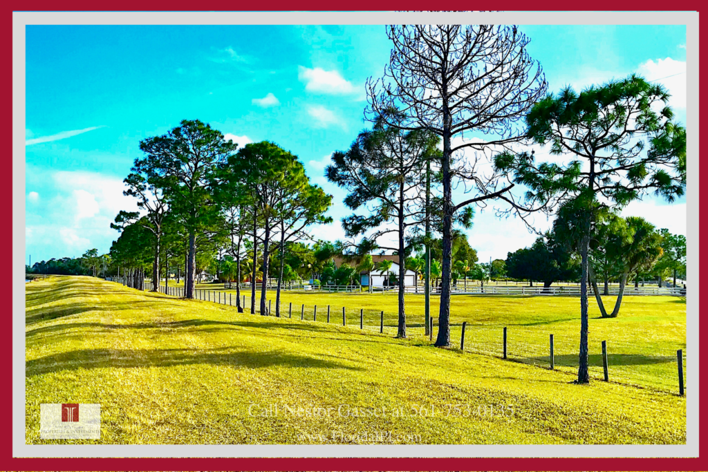 Loxahatchee FL Equestrian Properties - This equestrian property near Wellington FL is in hacking distance from White Fences.